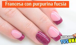 Uñas de gel decoradas con purpurina